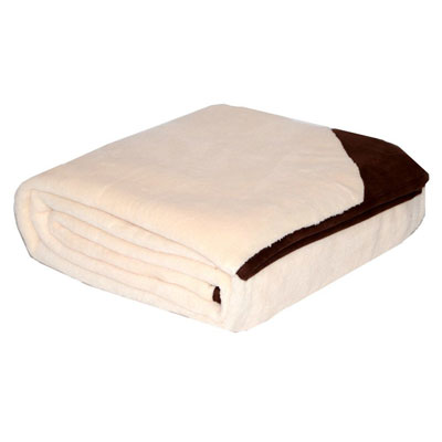 Eddie Bauer Bone Throw With Brown Trim