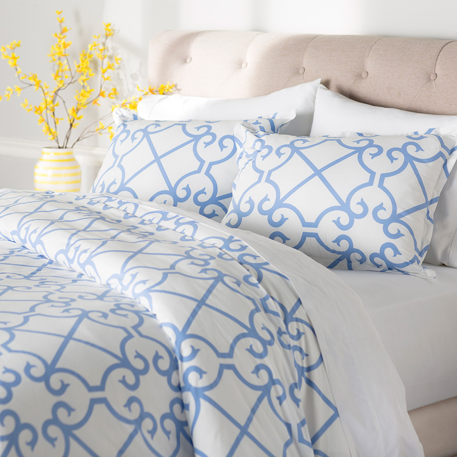 Twin Comforter Set City Scene Bonnie Blue