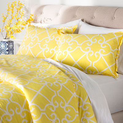 City Scene Bonnie Yellow Comforter Set