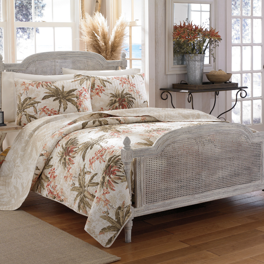 Tommy bahama full queen bonny cove tropical style quilt Tommy bahama bedding
