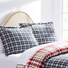 City Scene Bran Plaid Navy Comforter & Duvet Set