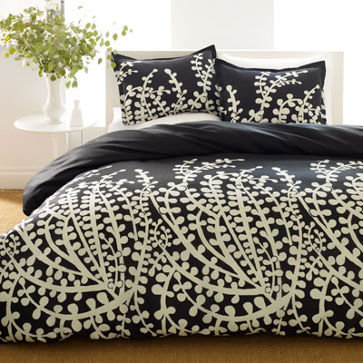 City Scene Branches Black Comforter and Duvet Cover Sets