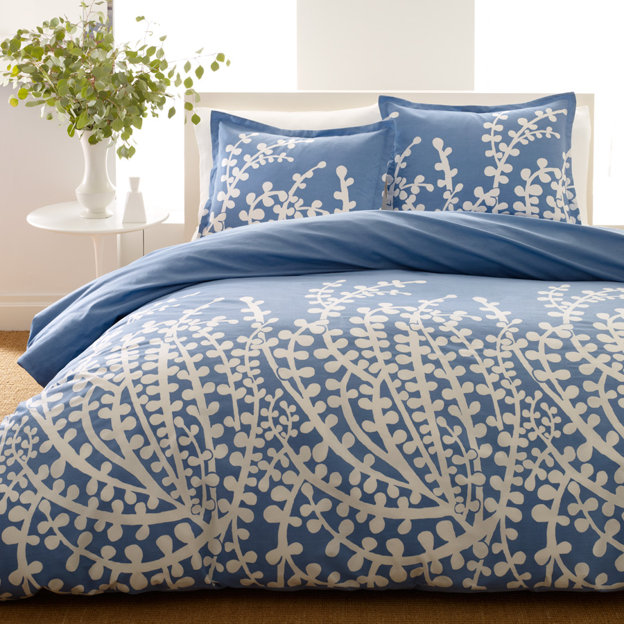 Twin Comforter Set City Scene <span class= by REVMAN >by REVMAN< span> Branches French Blue