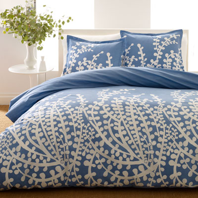City Scene Branches French Blue Comforter and Duvet Cover Sets