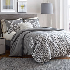 City Scene Branches Gray Comforter & Duvet Set