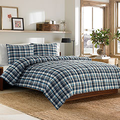 Eddie Bauer Bridgeport Plaid Down Alternative Comforter Set