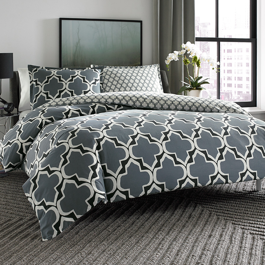 Full Queen Comforter Set City Scene Brodie