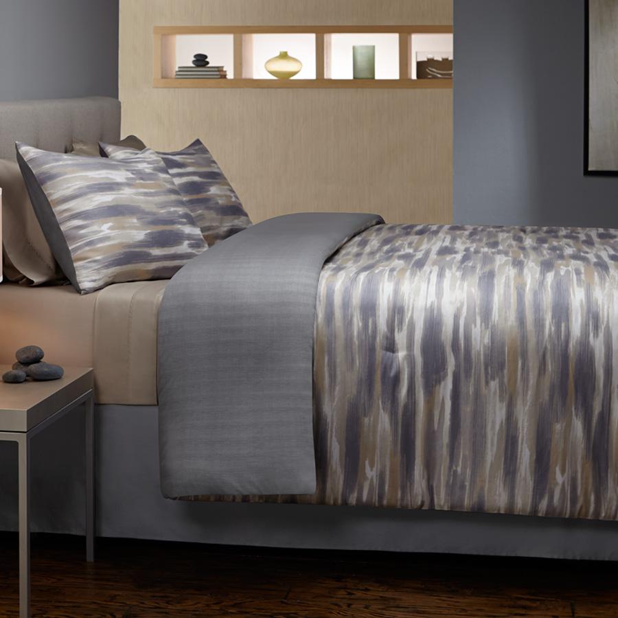 Grove Hill Brushed Stripe Comforter Amp Duvet Set From