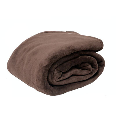 Eddie Bauer Brown Fleece Blanket