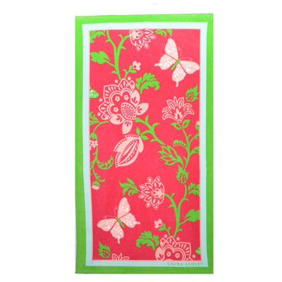 Laura Ashley Butterfly Floral Beach Towel
