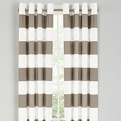 Nautica Cabana Stripe Cloud Gray Window Drapes