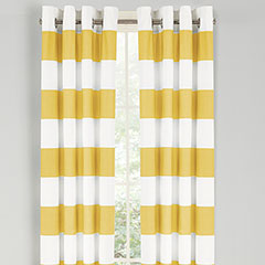 Nautica Cabana Stripe Yellow Window Drapes