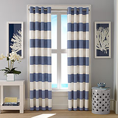 Nautica Cabana Stripe Chambray Window Treatment