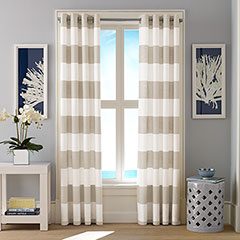 Nautica Cabana Stripe Light Beige Window Treatment