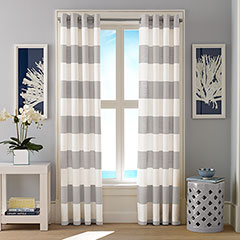 Nautica Cabana Stripe Light Grey Window Treatment