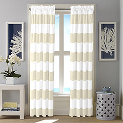Nautica Cabana Stripe Twine Window Drapes