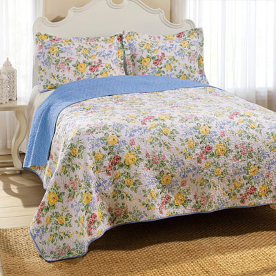 Laura Ashley Callington Floral Quilt Set