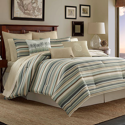 Tommy Bahama Canvas Stripe Comforter Set From Beddingstyle Com