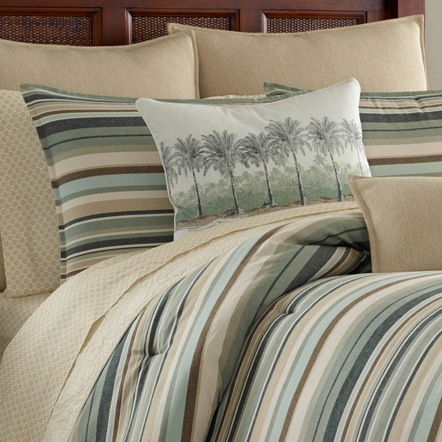Tommy bahama canvas stripe comforter set from Tommy bahama bedding