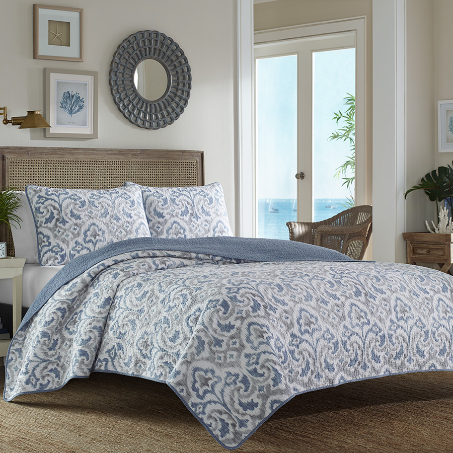 Tommy Bahama Cape Verde Smoke Quilt Set From Beddingstyle Com