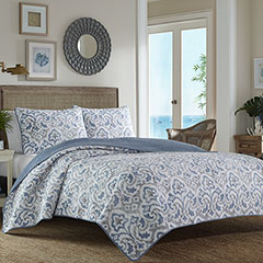 Tommy Bahama Cape Verde Smoke Quilt Set