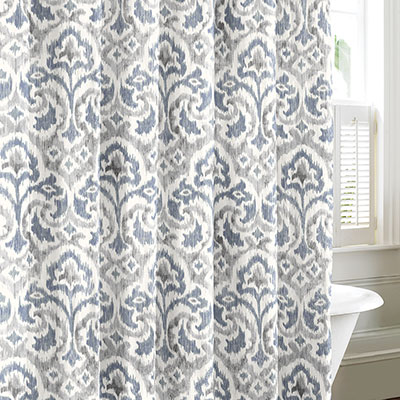Tommy Bahama Cape Verde Smoke Shower Curtain From