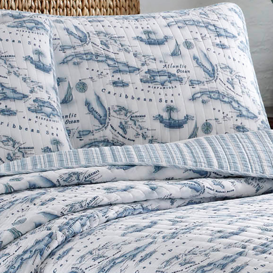 Tommy Bahama Caribbean Sea Quilt Set From Beddingstyle Com