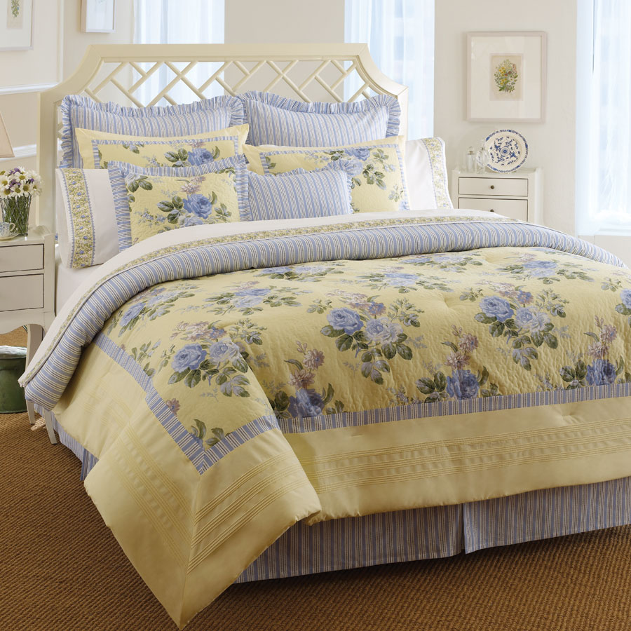 Queen Comforter Set Laura Ashley Caroline
