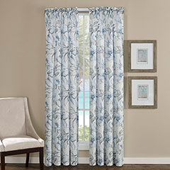 Tommy Bahama Casablanca Garden Pelican Grey Window Treatment