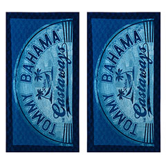 Castaway Denim 2-Piece Beach Towel Set
