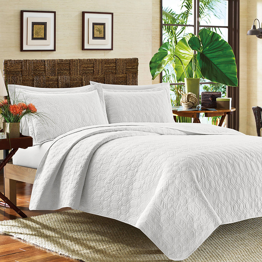 Tommy Bahama Catalina White Quilt Set From Beddingstyle Com