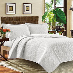 Tommy Bahama Catalina White Quilt Set