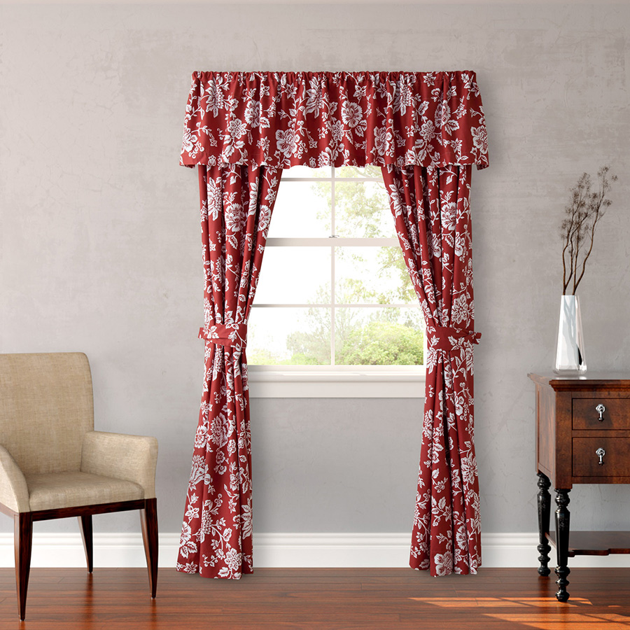 Cottage Style Window Treatments Cottage Style Window: Stone Cottage Ceylon Window Treatment From Beddingstyle.com