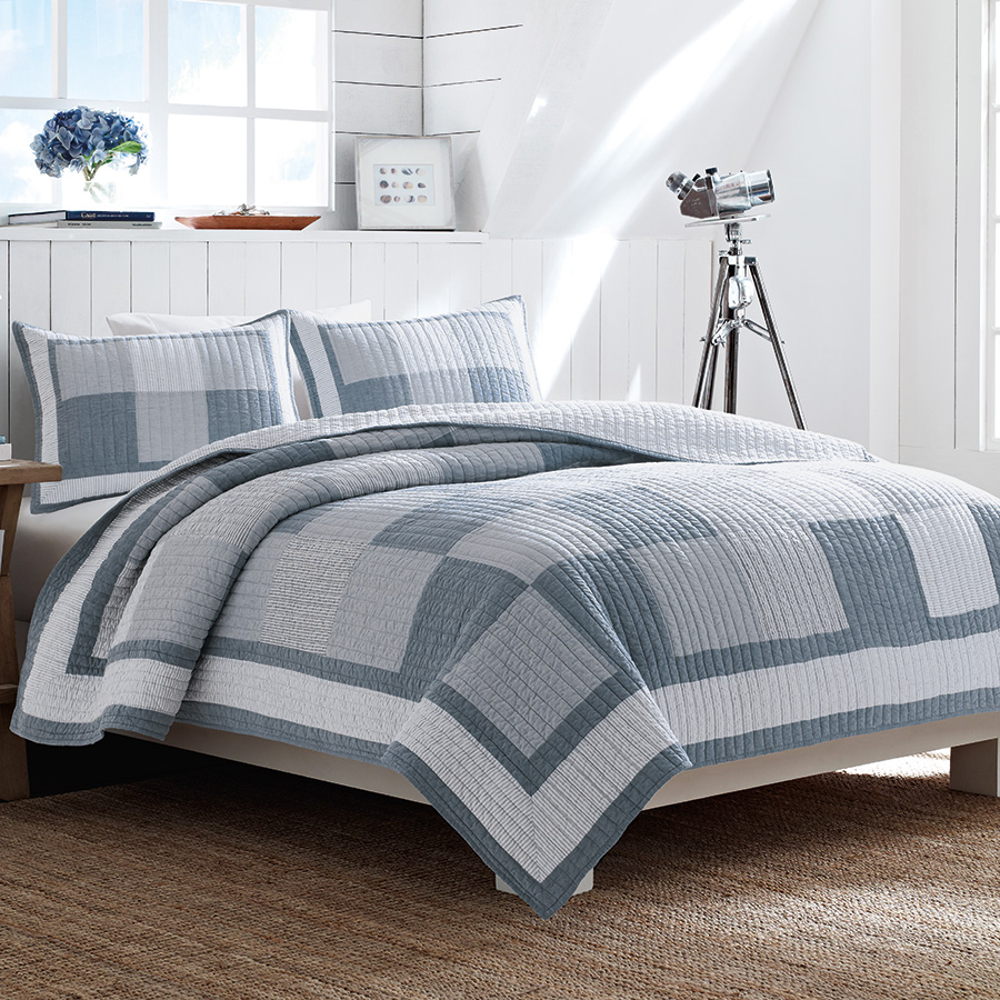 Nautica Chambray Quilt Collection From Beddingstyle Com