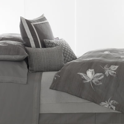 Vera Wang Charcoal Flower Duvet Cover