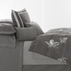 Charcoal Flower Duvet Cover