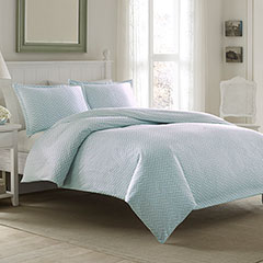 Laura Ashley Chevron Flannel Duvet Set