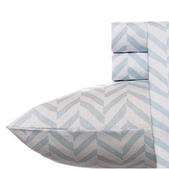 Laura Ashley Chevron Flannel Sheet Set