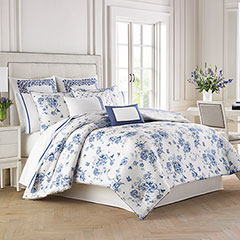 China Blue Comforter & Duvet Cover Set
