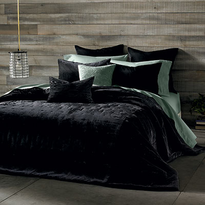 Kevin O'Brien Cirrus Charcoal Coverlet