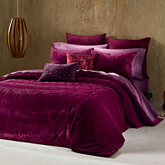 Cirrus Deep Red Coverlet