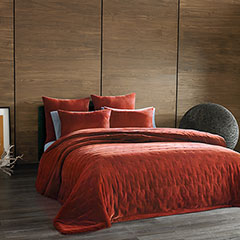 Kevin O'brien Cirrus Orange Coverlet