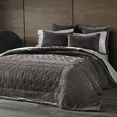 Kevin O'Brien Cirrus Pewter Coverlet