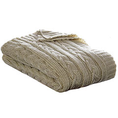 Eddie Bauer Cable Knit Oyster Throw