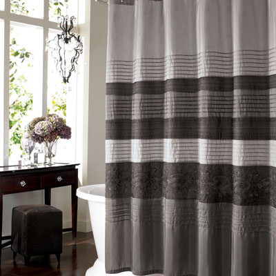 Manor Hill Cleo Pewter Shower Curtain