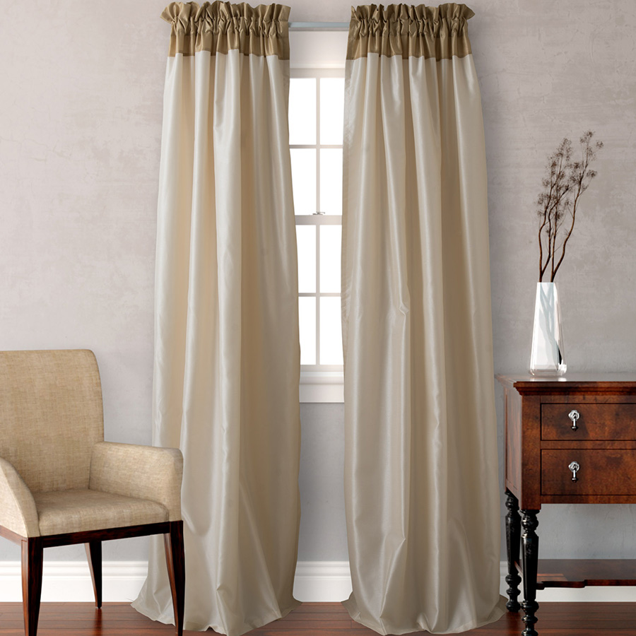 Pair of Drapes 54 x 96 Heritage Landing Colorblock Gold