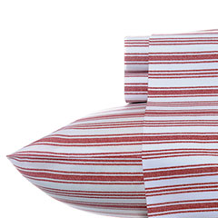 Coleridge Stripe Red Sheet Set