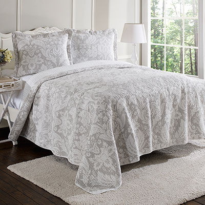 Laura Ashley Connemara Neutral Quilt Set