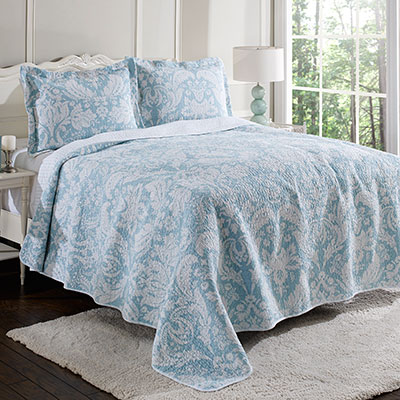 Laura Ashley Connemara Robins Egg Quilt Set