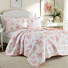 Laura Ashley Cape Coral Poppy Quilt Set